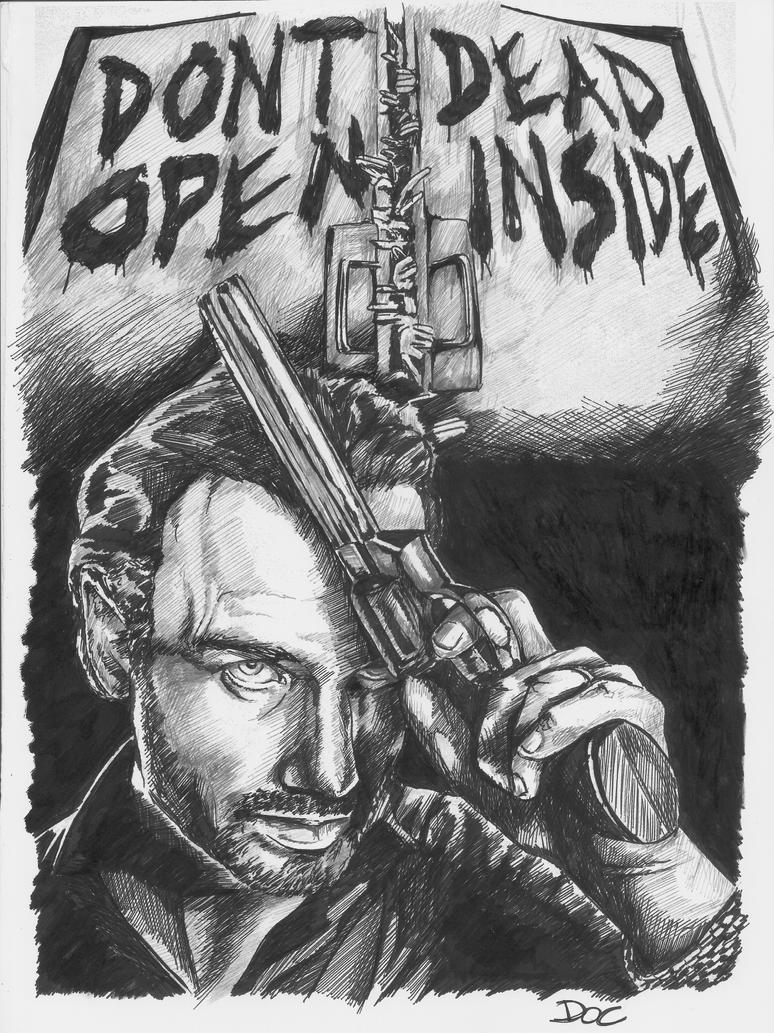 The Walking Dead - Rick Grimes portrait by dottcrudele