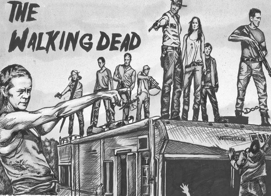The walking dead tribute by dottcrudele on deviantart for The walking dead coloring pages