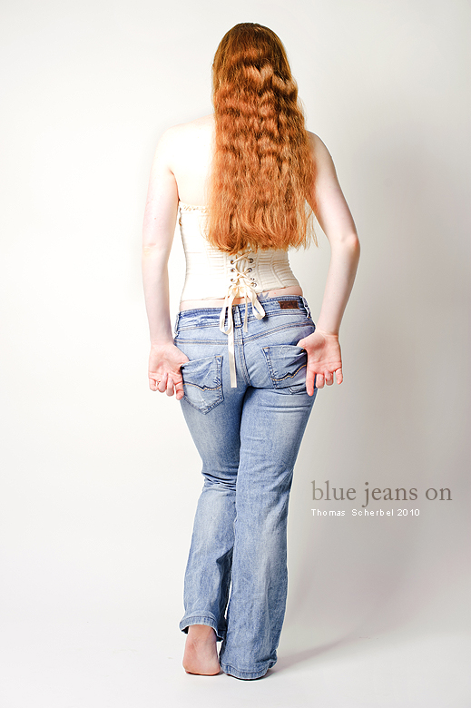 blue jeans on by yiria