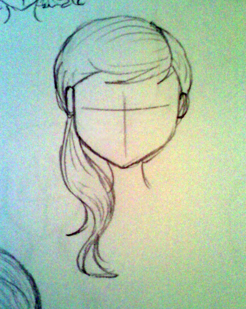 Uncategorized How To Draw A Pony Tail hairstyles wavy side ponytail by bexxasaurus on deviantart bexxasaurus