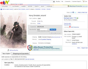 Harry Dresden: Sold on EBay
