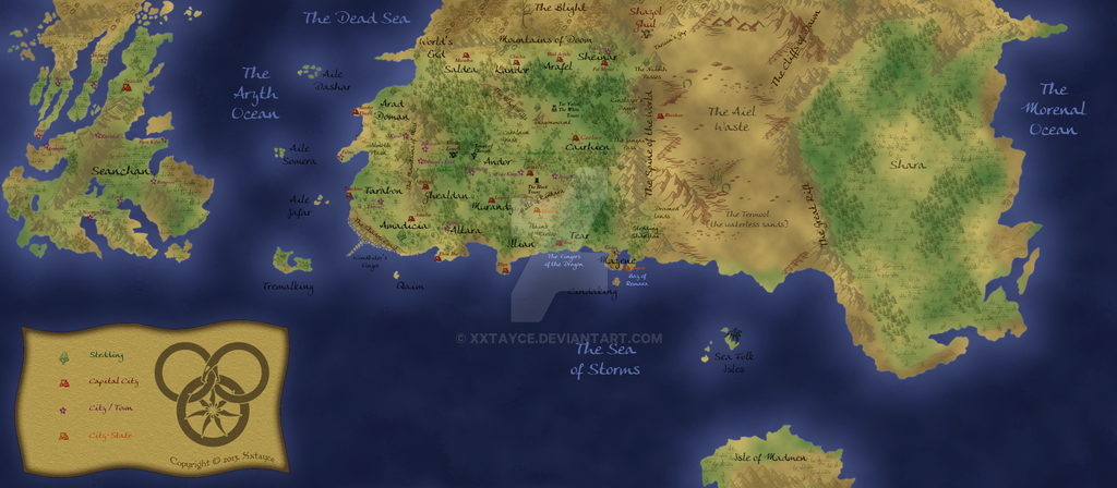Wheel of Time map Work in Progress by xxtayce on DeviantArt
