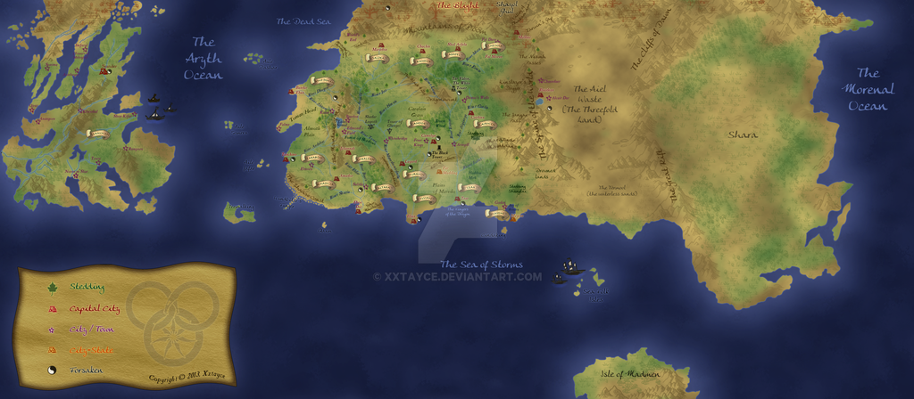 Wheel of Time map (Work in Progress 2) by xxtayce on DeviantArt