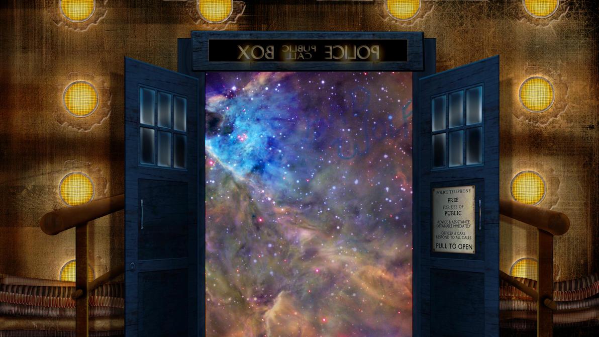 10th Doctor TARDIS Wallpaper by xxtayce on DeviantArt