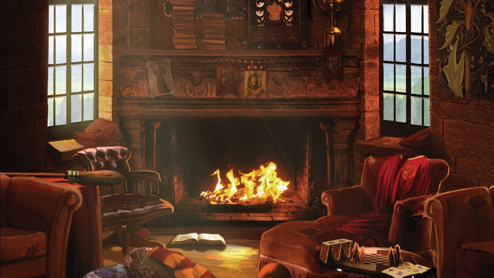 Image result for gryffindor common room wallpaper pottermore