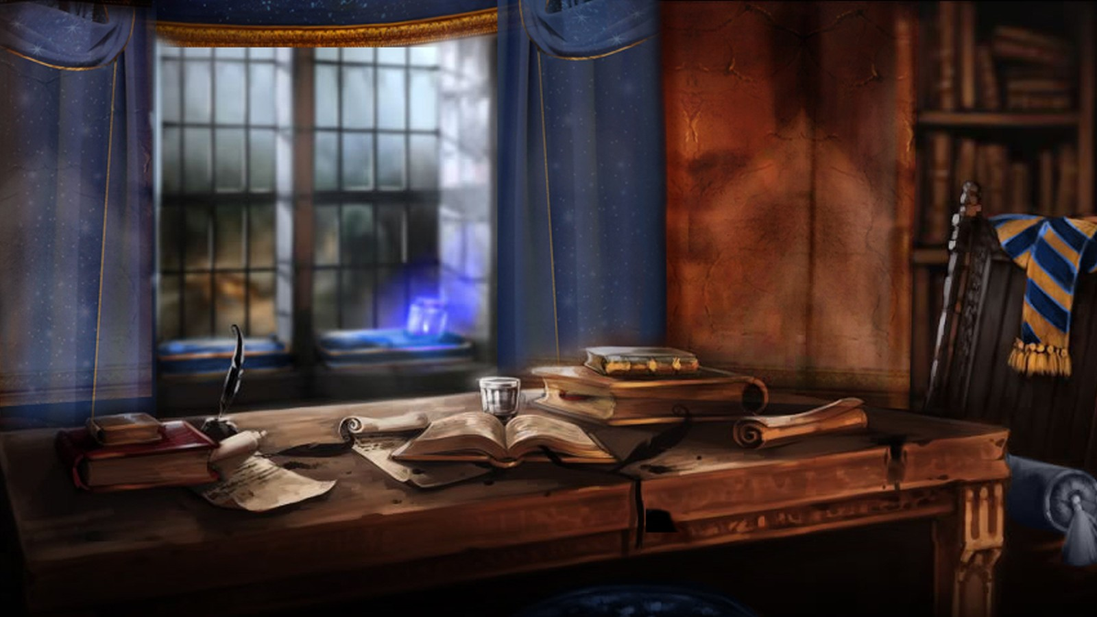 Pottermore Background: Ravenclaw Common Room 1 by xxtayce on DeviantArt