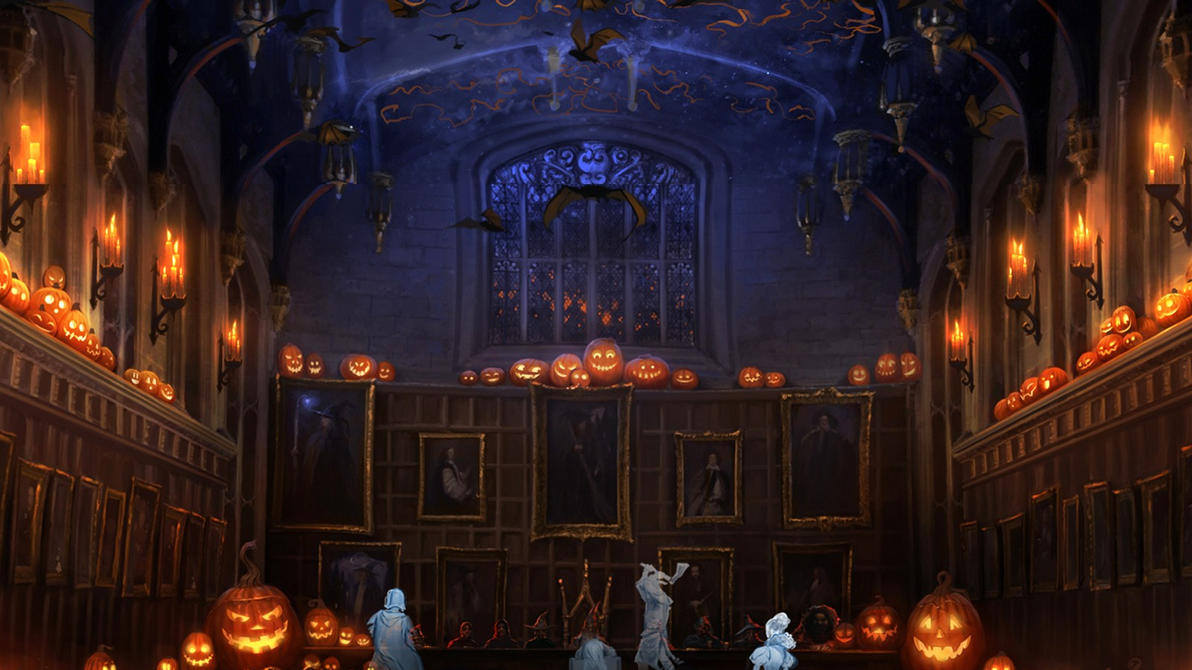 Pottermore Background Halloween In The Great Hall By