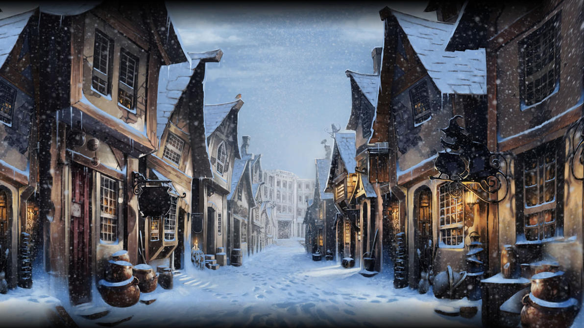 Best Wallpaper Harry Potter Christmas - pottermore_background__diagon_alley_at_christmas_by_xxtayce-d6xjtzs  Pic_12723.jpg
