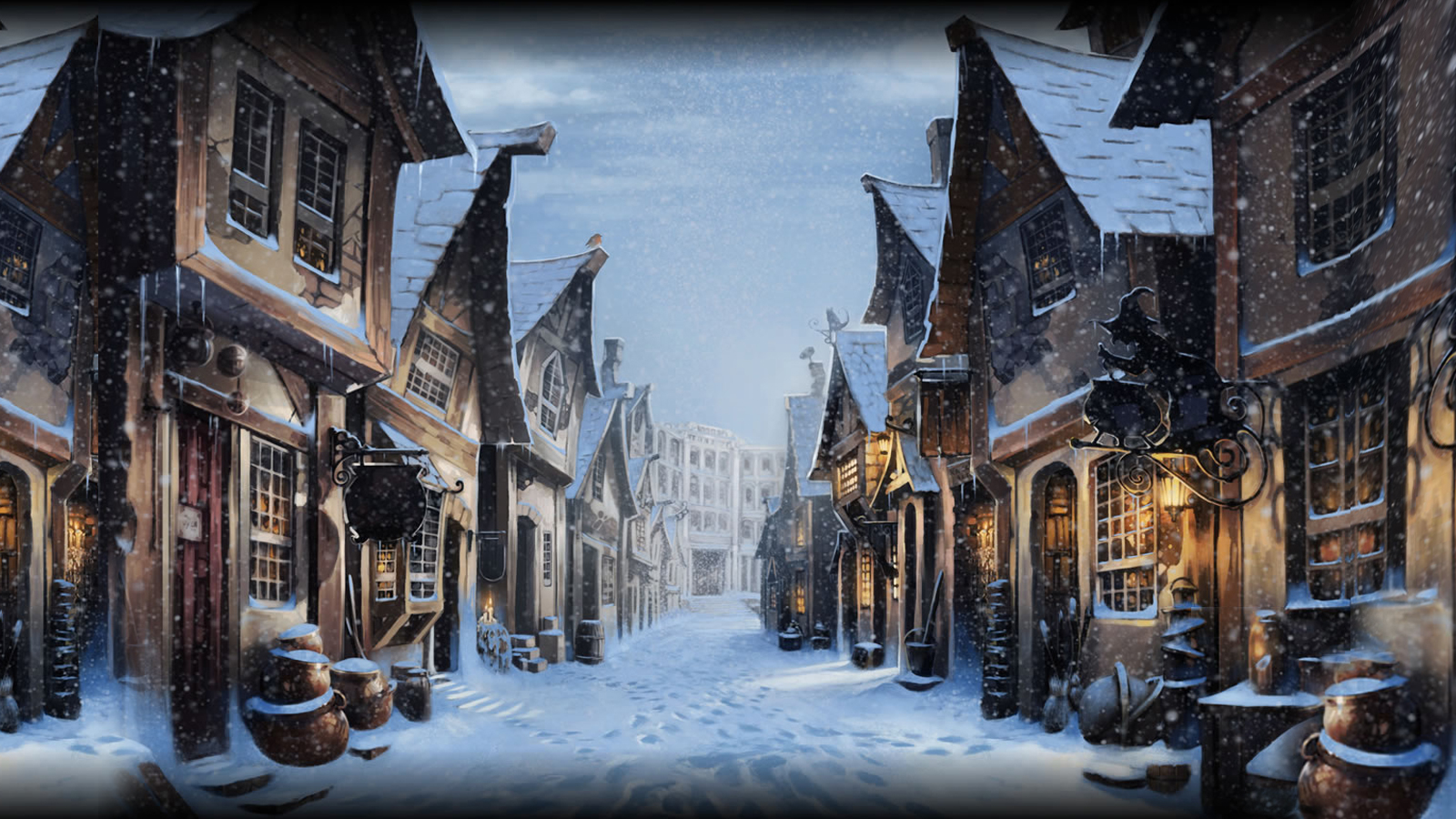 Pottermore Background: Diagon Alley at Christmas by xxtayce on ...