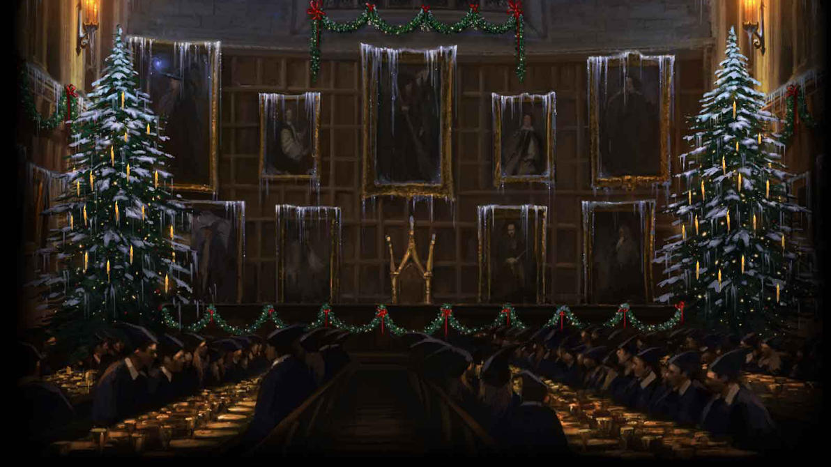 Pottermore Background Great Hall At Christmas 2 By Xxtayce