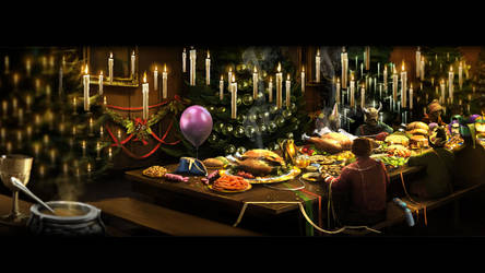 Pottermore Background: Christmas Feast by xxtayce