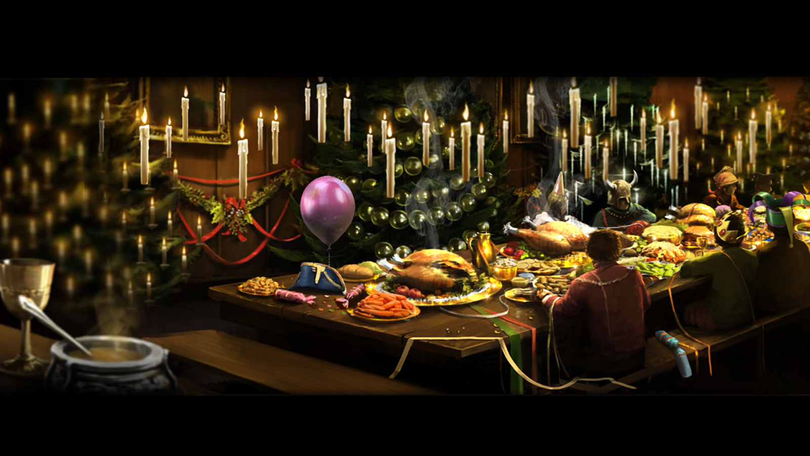 Pottermore Background: Christmas Feast by xxtayce on DeviantArt