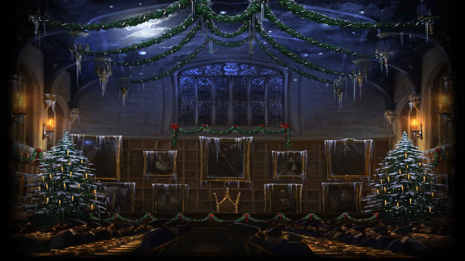 Pottermore Background Great Hall At Christmas 3 By