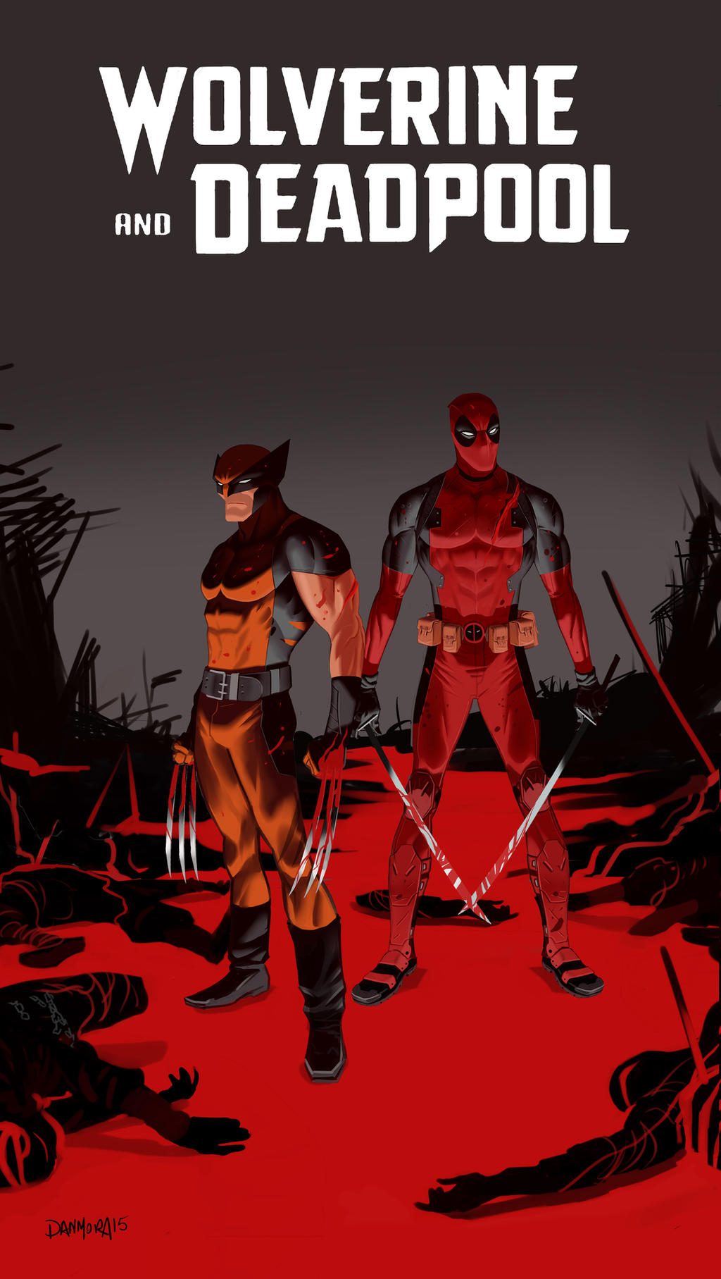 Wolverine and Deadpool by Dan-Mora