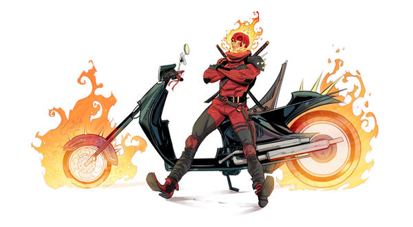 Deadpool/ghost rider mashup by Dan-Mora