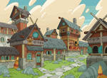 Large town with Stone path- Jake Morrison