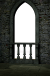 UNRESTRICTED - Gothic Castle Balcony Render