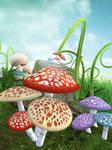 UNRESTRICTED - Mushroom Magic Land Background