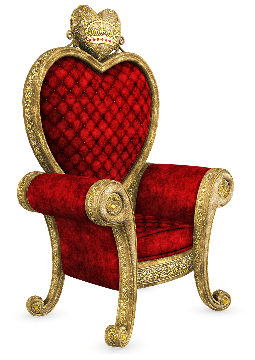 Unrestricted queen of hearts throne render 02 by for Stuhl transparent design
