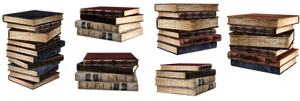 UNRESTRICTED - Stacks of books renders