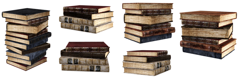 UNRESTRICTED - Stacks of books renders