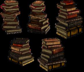 UNRESTRICTED - Stacks of books renders II by frozenstocks