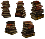UNRESTRICTED - Stacks of books renders II