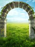 UNRESTRICTED - Summer Field Arch Background