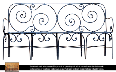 RESTRICTED - Wrought Iron Bench by frozenstocks
