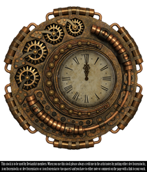 RESTRICTED - Steampunk Clock Render by frozenstocks