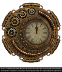 RESTRICTED - Steampunk Clock Render