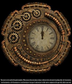 RESTRICTED - Steampunk Clock Render