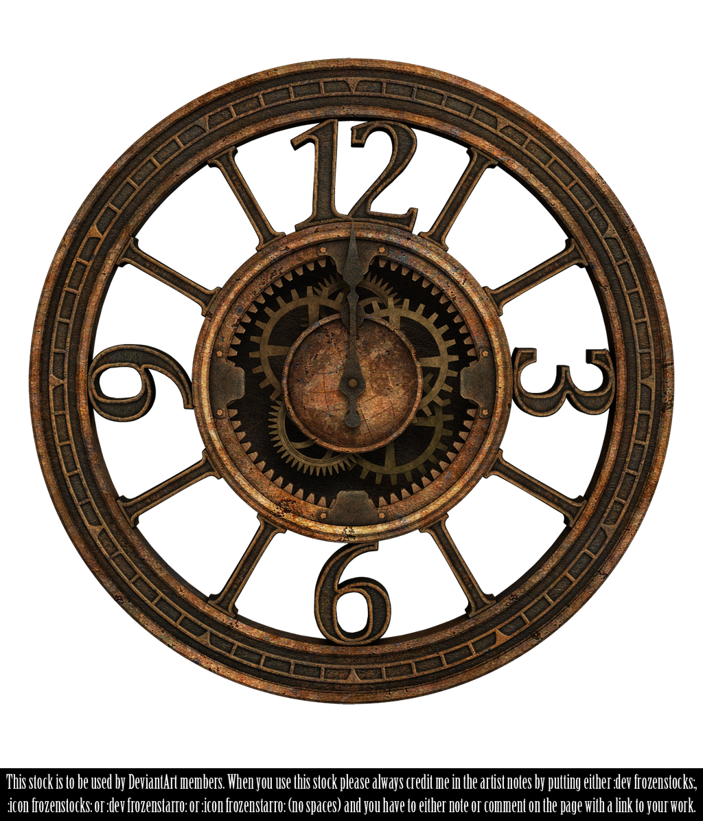 clock tumblr transparent. restricted steampunk clock ii render by frozenstocks tumblr transparent