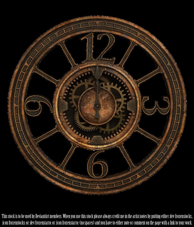 restricted steampunk clock ii render by frozenstocks on