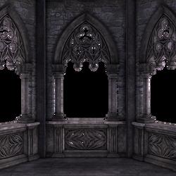 RESTRICTED - Dark Gothic Balcony 01 by frozenstocks