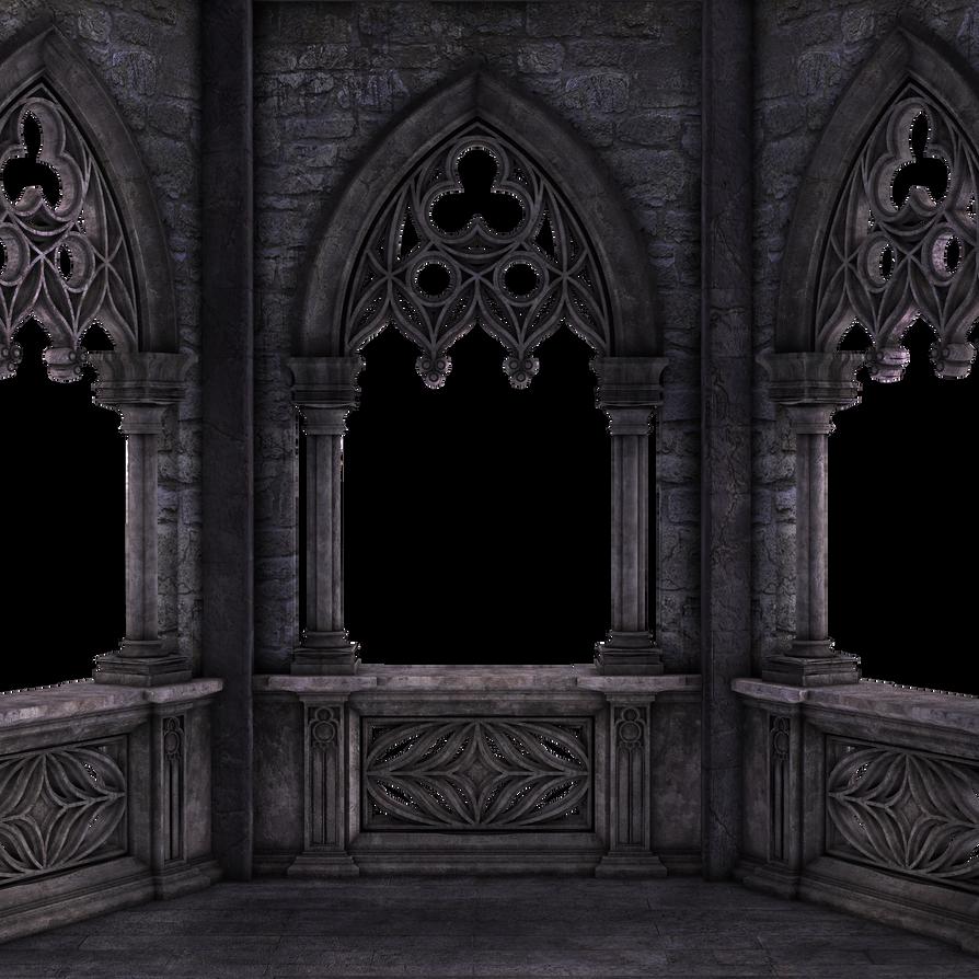 Restricted Dark Gothic Balcony 01 By Frozenstocks On