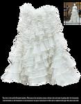 RESTRICTED - White Ruffles Skirt by frozenstocks