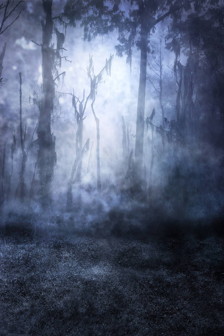 UNRESTRICTED - Haunted Woods Premade by frozenstocks