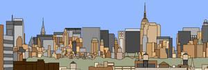 Cartoon Manhattan