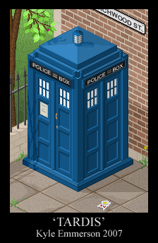 Pixel TARDIS by hellagood88