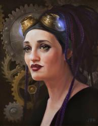 Purple Tara by JVanHulle