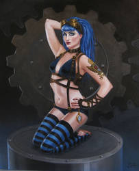Gear Girl: Blue by JVanHulle