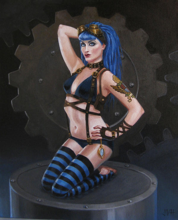 Gear Girl: Blue by JVanHulle