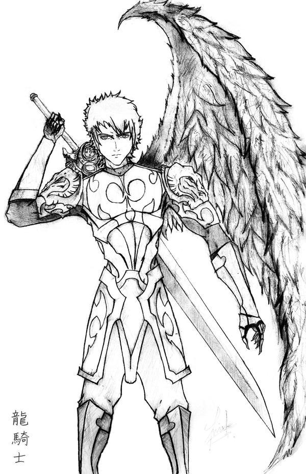 The Holy Dragon Knight By Lovehatesmisery On DeviantArt