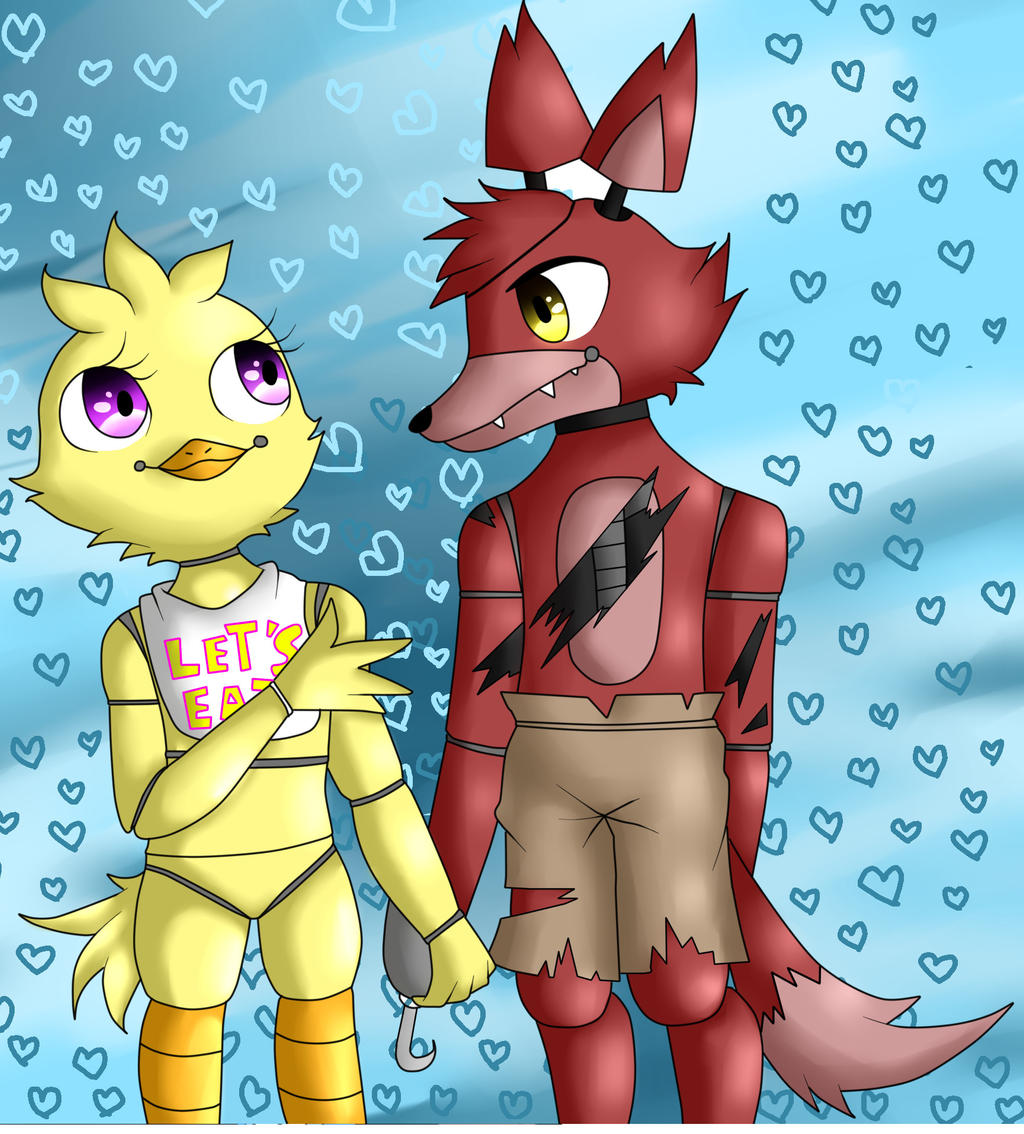 Foxica foxy x chica fnaf by shoppet sky on deviantart