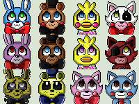 Fnaf - icons by Shoppet-Sky
