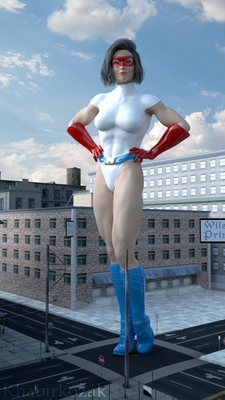 Giantess Superheroine