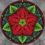 Mandala 003: If It Aint Baroque [colored] by WearManyHats