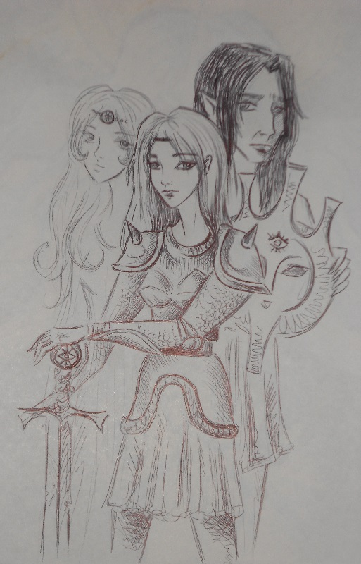 A sketch of the characters by Dilstar