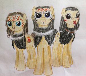 Aztec Priest Ponies